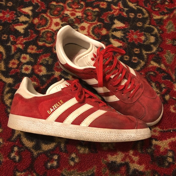adidas Shoes - Red Adidas Gazelle Sneakers